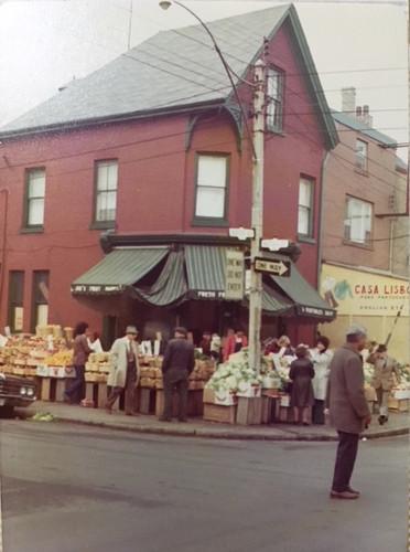 Joe's Fruit Market on the corner of Augusta and Nassau, ca. 1970s. Fremar Family Collection.