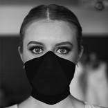 Woman wearing MMXX face mask