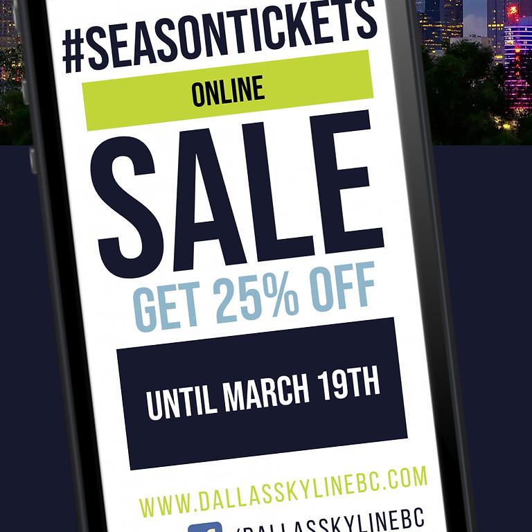 Dallas Skyline 2021 Season Tickets