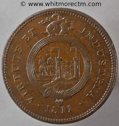 19th Century Penny Bristol 522 1811 Bristol & South Wales. - obv