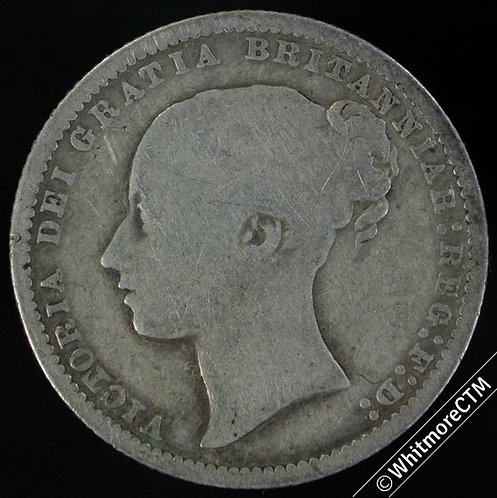 1875 Victoria Young Head Shilling - Die 68