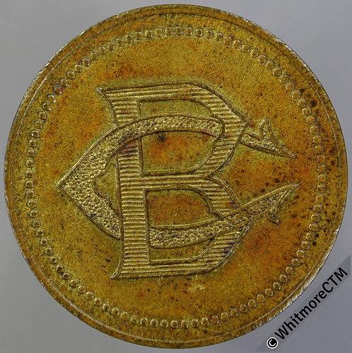 Algiers Bijou Concert Musique Token 27mm BC monogram bronze