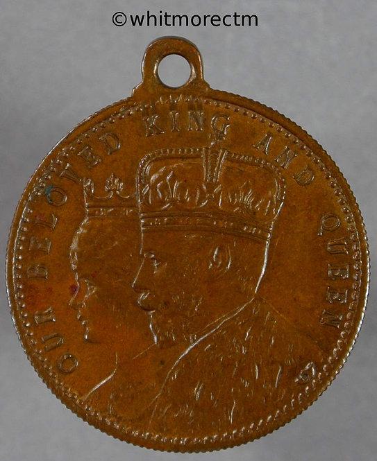 (1912) Commemorating the royal visit (George V) Medallion 22mm Bronze with suspender