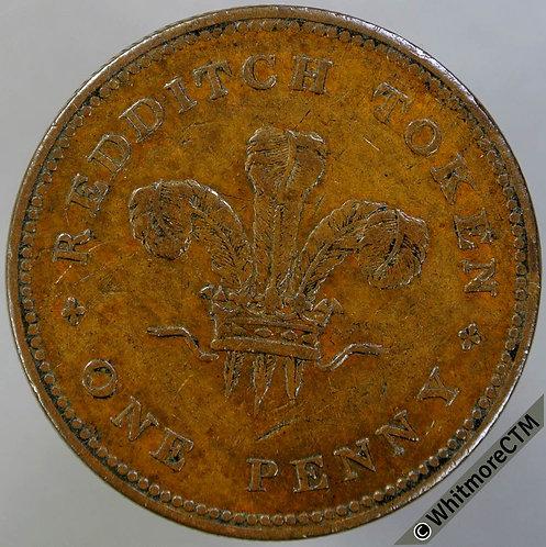 19th Century Penny Redditch 960 1813 Bartleet & Hemming / Plumes