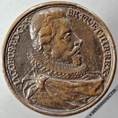 Kings of England Series Medal 40mm James I obv - Dassier restrike. Cast bronze