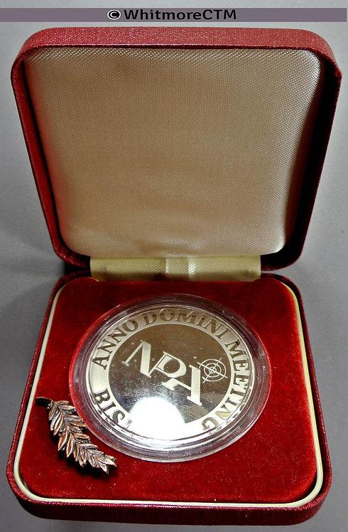 Bisley 1993 National Pistol Association Medal 45mm Anno Domini Meet Cupro-nickel