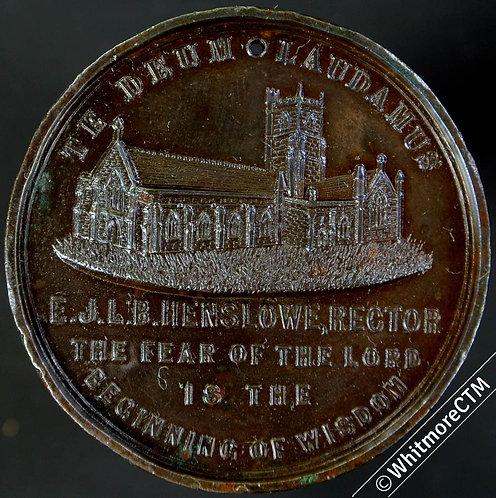 1888 Bridport St Mary's church Medal 39mm Bronze Taylor 17