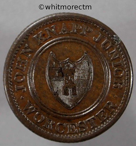 19th Century Farthing obv Worcester 1287 1813 John Knapp Junior