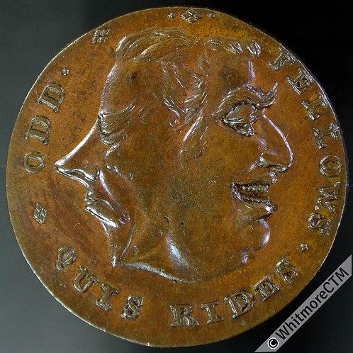 18th Century Halfpenny Token Middlesex 804c Plain edge. Small flan (26mm)