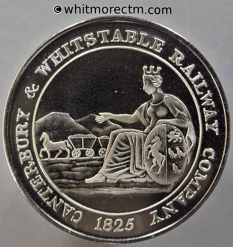 Canterbury Whitstable 1980 150th Anniversary of Railway Medal 38mm Cupro Nickel