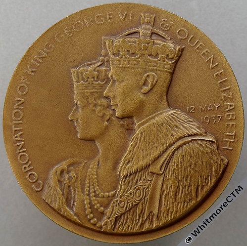 London Mayfair Hotel Berkeley Sq 1937 Coronation George VI Medal 51mm WE7340D