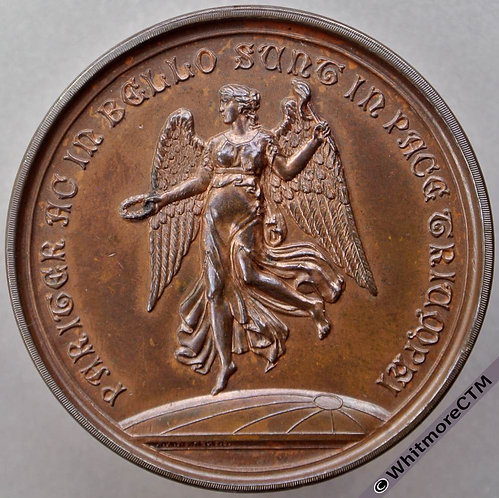 Lambeth Polytechnic Medal 45mm By Restall. Bronze. Figure of Victory.