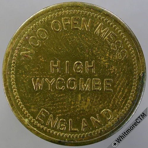 Armed Forces Token High Wycombe 29mm NCO Open Mess England / 25c in trade. Brass