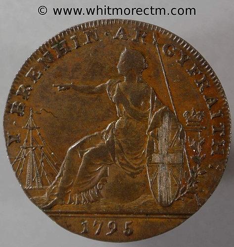 18th Century Halfpenny Glamorgan 3a 1795 Jestyn Edge: Glamorgan.  3 leaves