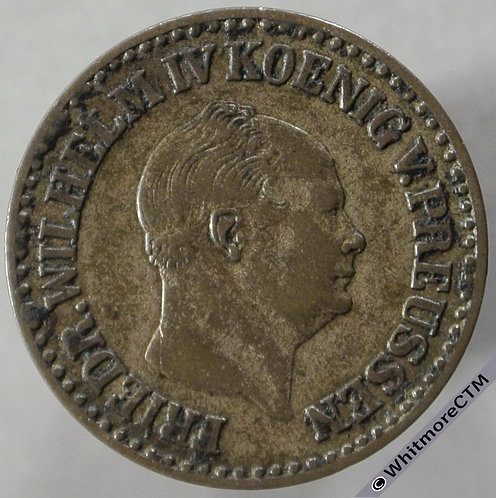 1853A Germany Prussia 1 Silber Groschen obv