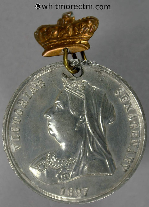 1897 Victoria Diamond Jubilee Medal 35mm B3574 Veiled bust as coinage - Rare
