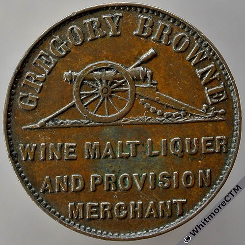Unofficial Farthing Woolwich 5150 Gregory Browne. liquer spelling. Very Rare