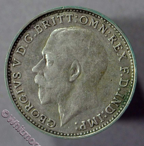 1925 George V Silver 3d threepence