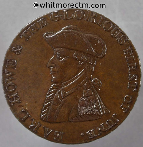 18th Century Halfpenny Emsworth 15 Bonzed proof with no trace of die break