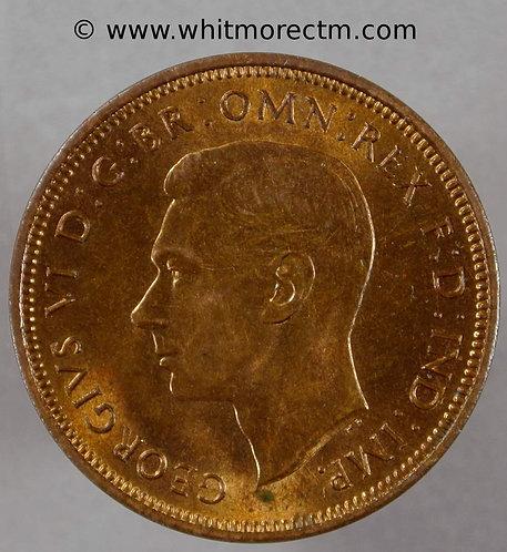 1938 George VI  Bronze Halfpenny - 70% Luster