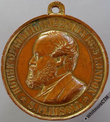 "1875 Samuel Plimsoll - sinking ""Coffin ship"" Medal 25mm B3015 Brass"