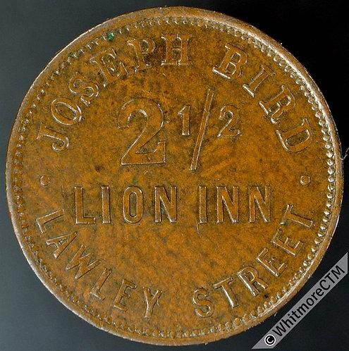Birmingham Inn / Pub Token Lion Inn Joseph Bird W2378 - 22mm Uniface Copper