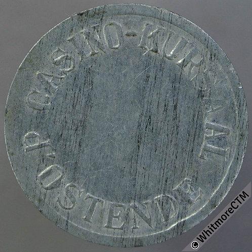 """Belgium Ostend 22mm """"1"""" - Casino Kursaal - White Metal"""