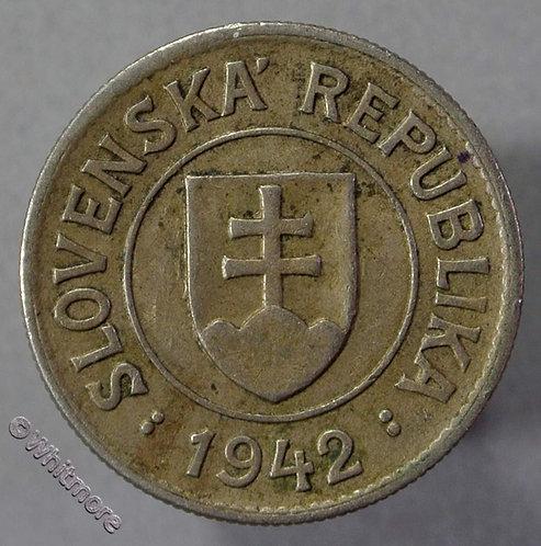 1942 Slovakia Slovenská 1 Koruna coin - obv