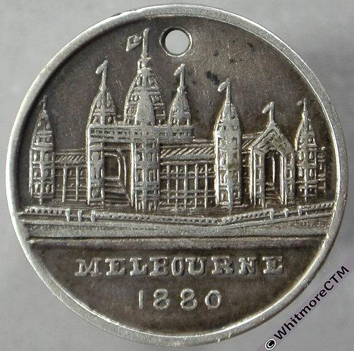 1880 Australia Melbourne International Exhibition Medal obv 20mm Not in Carlisle