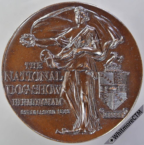 Birmingham (1959) National Dog Show 100th Exhibition Medal 39mm Bronze
