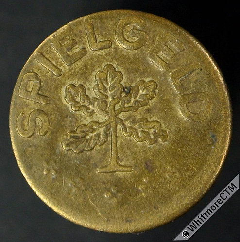 Toy Coin Germany Spielgeld 5 / 5 Oak leaves 15mm Gilt Iron. as 2219
