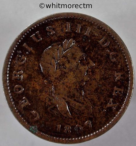 1807 George III Half-Penny