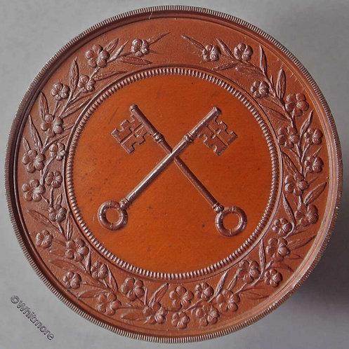 Lincolnshire. Wisbech & District Horticultural Association Medal 39mm Bronze