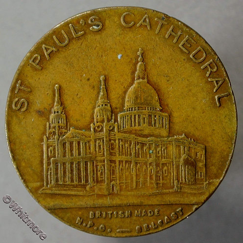 1924 Empire Exhibition Souvenir Medal 24mm St. Paul's Cathedral Bronze