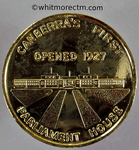 1988 Australia Canberra opening of New Parliament House Gilt bronze Medallion 32mm