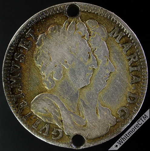 1692 Battle of La Hogue Medal 26mm E349 William & Mary - Silver
