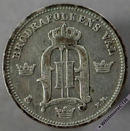 1897 Sweden 10 Öre obv