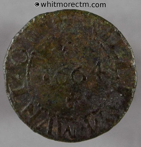 17th Century Token Clacton Much Clafton 242 1664  William Munt /  M / W M