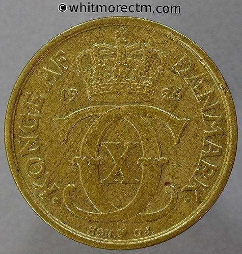 1926 Denmark Y34 1 Krone coin