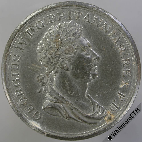 1830 Death of George IV Medallion 44mm B1392 Britannia mourning at tomb. W.M