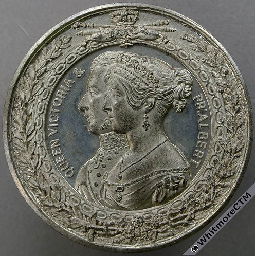 1851 Crystal Palace Dimensions Medal 52mm B2419 By Allen & Moore. White metal