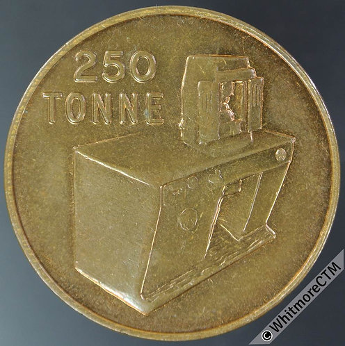 "Mints Token Dorking 32mm Dorada Alexander ""250 Tonne"" machine depicted. Bronze"