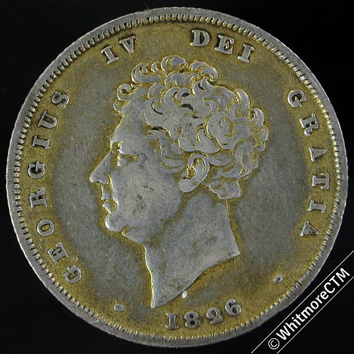 1826 British Shilling George IV 1/- Has been gilded
