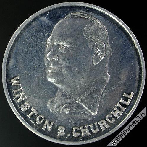 """1965 Winston Churchill Medal 33mm Moose """"Canada"""".  Aluminium. Fantasy by Adams"""