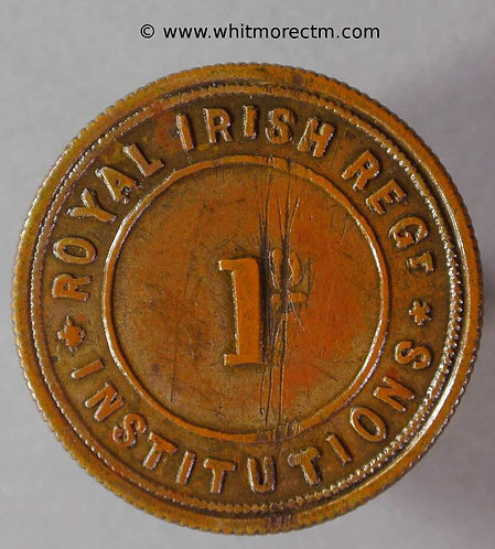 Armed Forces Token 26mm Royal Irish Regiment Institutions  BMT230 - obv