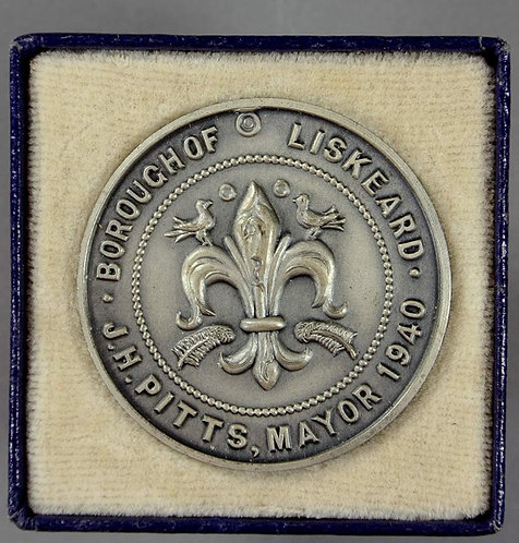 Liskeard 1940 700th Anniversary of First Borough Charter Medal 32mm boxed
