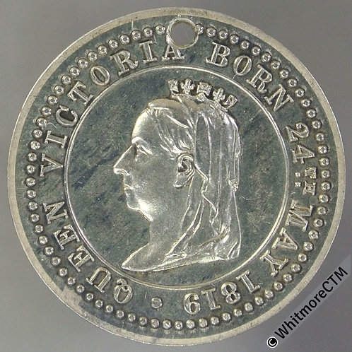 1887 Queen Victoria Golden Jubilee Medal 23mm B3328 Proof-like Silver, Rare