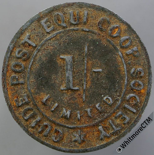 Guide Post (Northumberland) Equitable Co-Operative Society Token 22mm 1/-