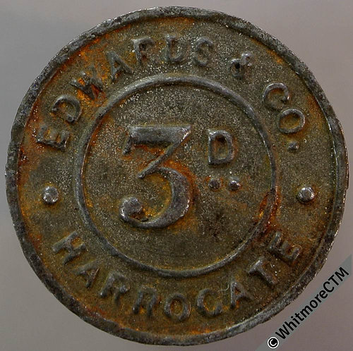 Value Stated Token Harrogate 23mm 3D Edwards & Co. Bracteate iron