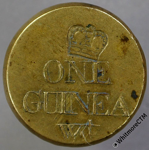 Coin Weight 20mm W2056A One Guinea W.t  Crown countermark - Uniface
